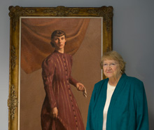 Lois with Brackman Portrait of Francis